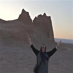 Elspeth in Center of Iran